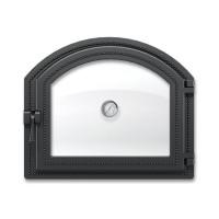 Дверка 217 с термометром (Антрацит) ВЕЗУВИЙ