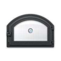 Дверка 222 с термометром (Антрацит) ВЕЗУВИЙ